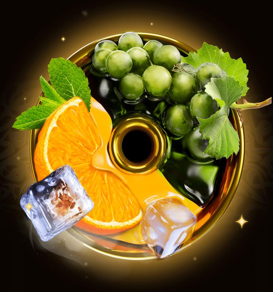 Orange, Grape & Mint